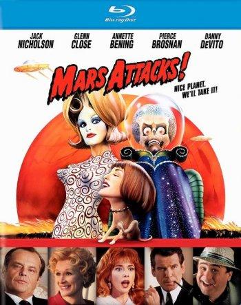 Смотреть онлайн Марс атакует! / Mars Attacks! (1996)