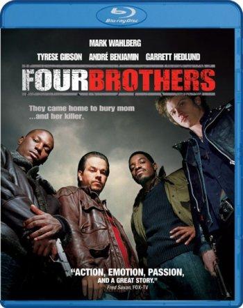 Смотреть онлайн Кровь за кровь / Четыре брата / Four Brothers (2005)